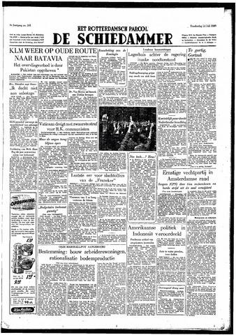 Rotterdamsch Parool / De Schiedammer 1949-07-14
