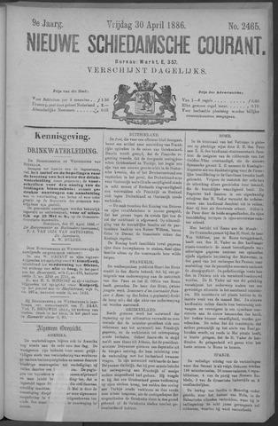 Nieuwe Schiedamsche Courant 1886-04-30