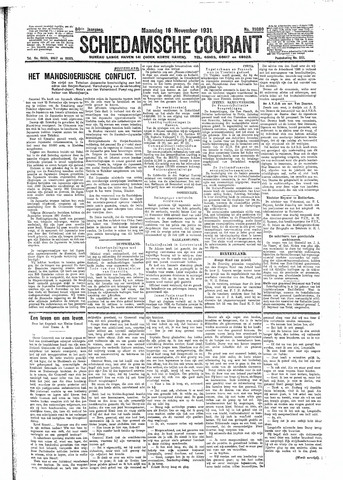 Schiedamsche Courant 1931-11-16
