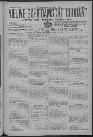 Nieuwe Schiedamsche Courant 1918-11-20