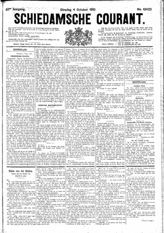 Schiedamsche Courant 1910-10-04