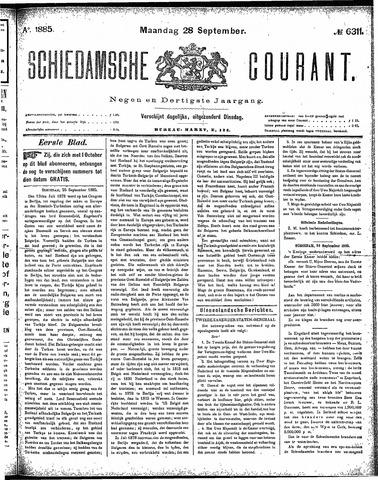 Schiedamsche Courant 1885-09-28