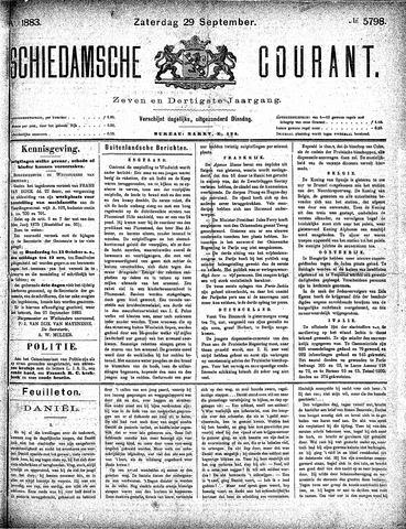 Schiedamsche Courant 1883-09-29