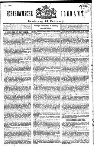 Schiedamsche Courant 1862-02-27
