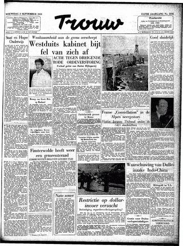 Trouw / De Rotterdammer 1953-09-02