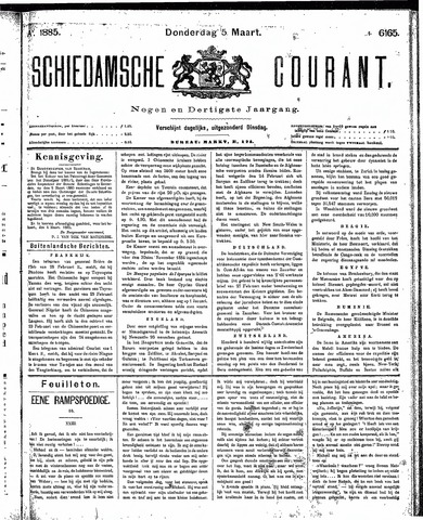 Schiedamsche Courant 1885-03-05