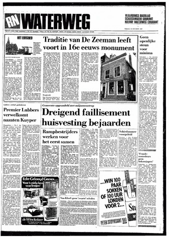 Rotterdamsch Nieuwsblad / Schiedamsche Courant / Rotterdams Dagblad / Waterweg / Algemeen Dagblad 1987-10-30