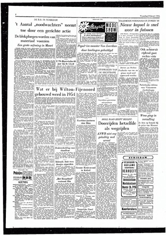 Rotterdamsch Parool / De Schiedammer 1955-02-02