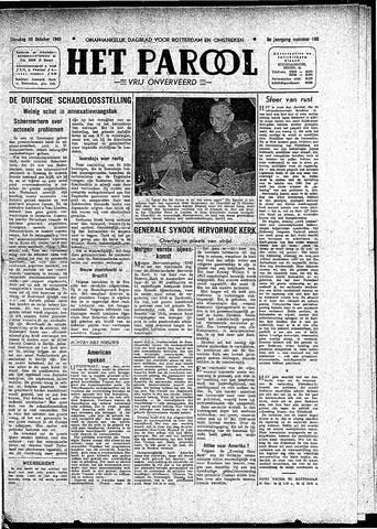 Rotterdamsch Parool / De Schiedammer 1945-10-30