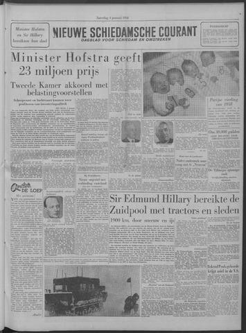Nieuwe Schiedamsche Courant 1958-01-04