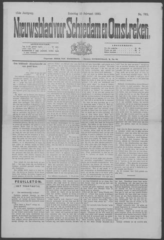 Nieuwsblad voor Schiedam en Omstreken 1892-02-13