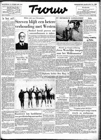 Trouw / De Rotterdammer 1956-02-15