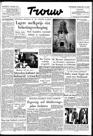 Trouw / De Rotterdammer 1957-03-06