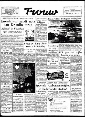 Trouw / De Rotterdammer 1958-09-22