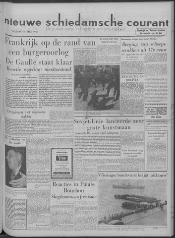 Nieuwe Schiedamsche Courant 1958-05-16