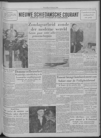 Nieuwe Schiedamsche Courant 1958-02-12