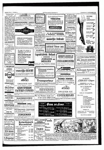 Rotterdamsch Nieuwsblad / Schiedamsche Courant / Rotterdams Dagblad / Waterweg / Algemeen Dagblad 1953-09-23