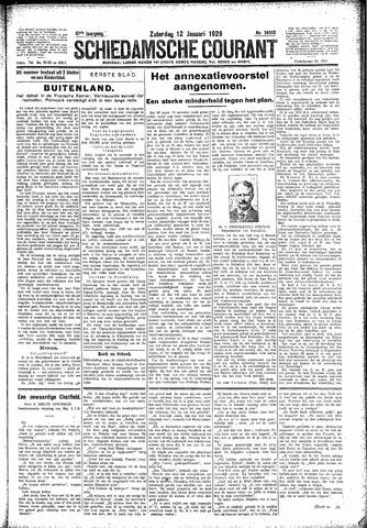 Schiedamsche Courant 1929-01-12