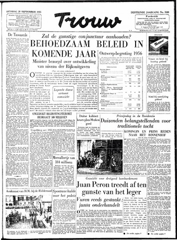 Trouw / De Rotterdammer 1955-09-20