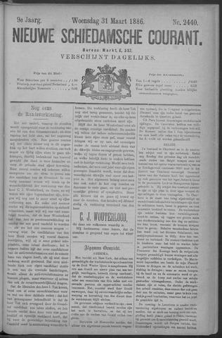 Nieuwe Schiedamsche Courant 1886-03-31