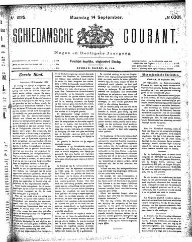 Schiedamsche Courant 1885-09-14