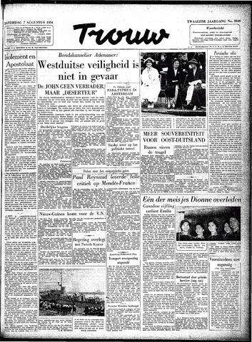 Trouw / De Rotterdammer 1954-08-07