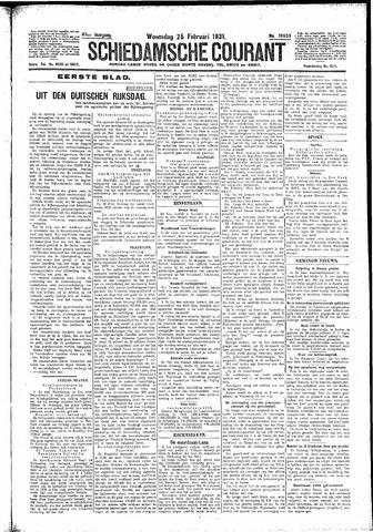 Schiedamsche Courant 1931-02-25