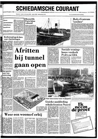 Rotterdamsch Nieuwsblad / Schiedamsche Courant / Rotterdams Dagblad / Waterweg / Algemeen Dagblad 1980-08-20