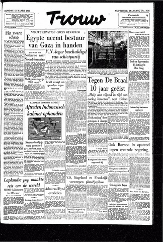 Trouw / De Rotterdammer 1957-03-12
