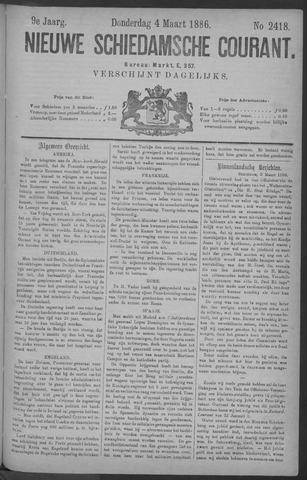 Nieuwe Schiedamsche Courant 1886-03-04