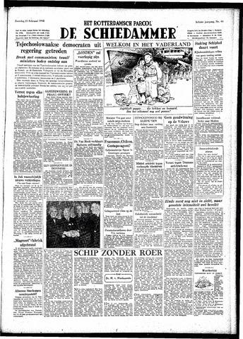 Rotterdamsch Parool / De Schiedammer 1948-02-21