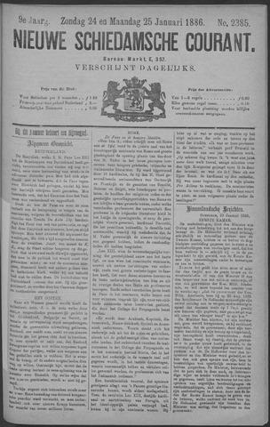 Nieuwe Schiedamsche Courant 1886-01-25