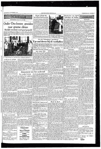 Rotterdamsch Nieuwsblad / Schiedamsche Courant / Rotterdams Dagblad / Waterweg / Algemeen Dagblad 1953-11-09
