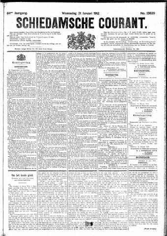 Schiedamsche Courant 1912-01-31
