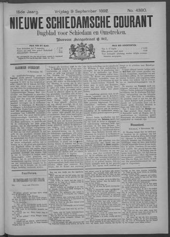 Nieuwe Schiedamsche Courant 1892-09-09