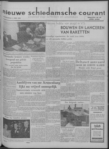 Nieuwe Schiedamsche Courant 1958-05-08