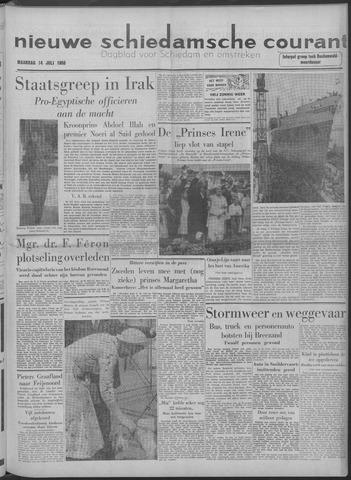 Nieuwe Schiedamsche Courant 1958-07-14