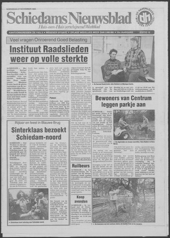 Schiedams Nieuwsblad 1985-11-27