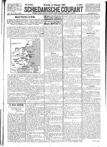 Schiedamsche Courant 1927-02-21