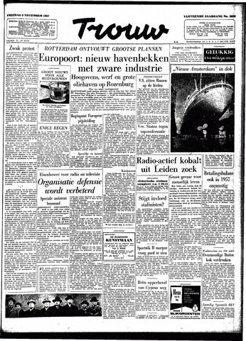Trouw / De Rotterdammer 1957-11-08