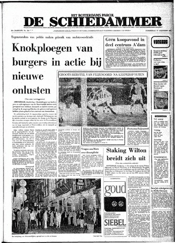 Rotterdamsch Parool / De Schiedammer 1970-08-27