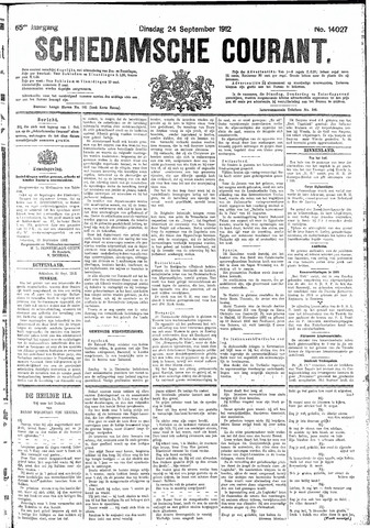Schiedamsche Courant 1912-09-24