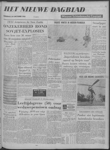Nieuwe Schiedamsche Courant 1961-10-24