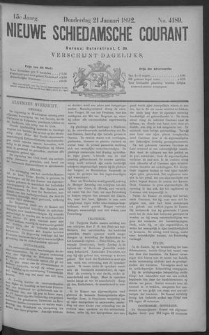 Nieuwe Schiedamsche Courant 1892-01-21