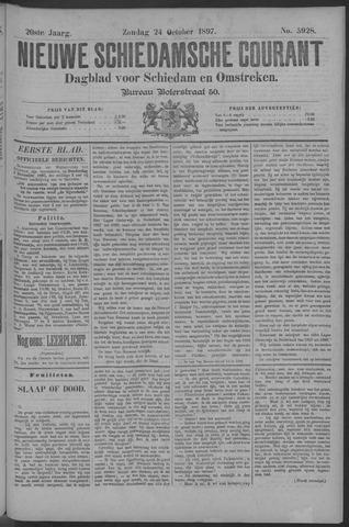 Nieuwe Schiedamsche Courant 1897-10-24