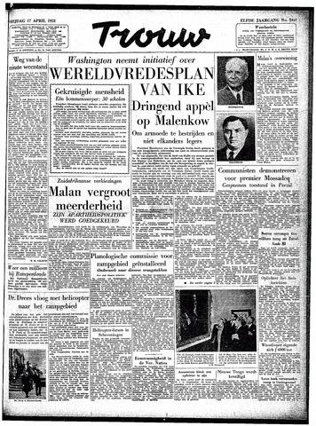 Trouw / De Rotterdammer 1953-04-17