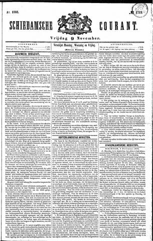 Schiedamsche Courant 1866-11-09