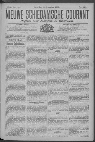 Nieuwe Schiedamsche Courant 1909-09-18