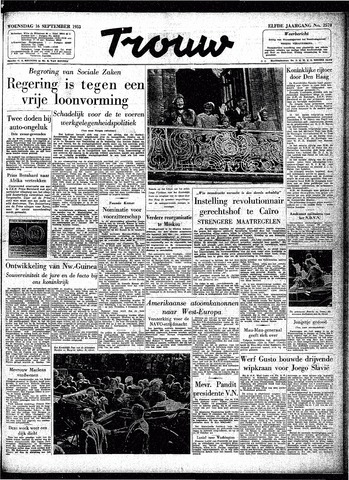 Trouw / De Rotterdammer 1953-09-16