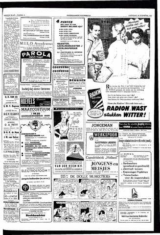 Rotterdamsch Nieuwsblad / Schiedamsche Courant / Rotterdams Dagblad / Waterweg / Algemeen Dagblad 1953-08-15